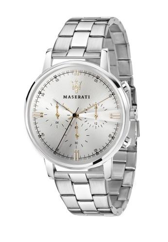 Maserati silver Eleganza Quartz Watch R8873630002 Silver Metal Strap 90971ACFC77792GS_1