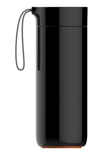 Artiart black Butterfly Thermal Suction Bottle (Black) Design By ArtiArt 3F479HL4825A53GS_1