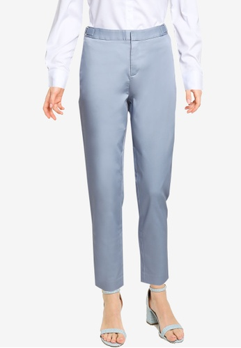 G2000 blue Cropped Skinny Sateen Pants AB021AAA0CC563GS_1