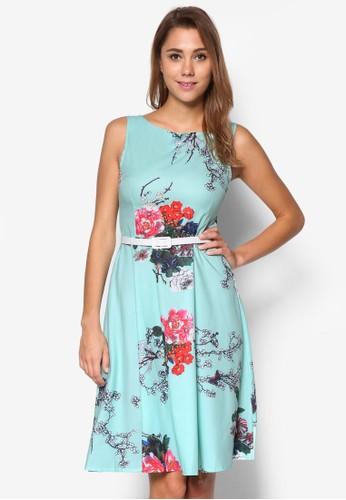 印花繫帶及膝洋裝, 服飾, esprit台灣門市洋裝