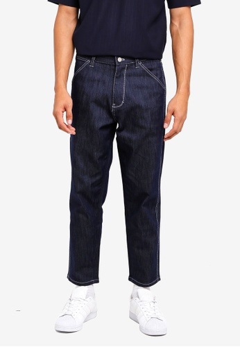 AT TWENTY navy Heavy Weight Twill Tapered Pants C12A8AA41916E1GS_1