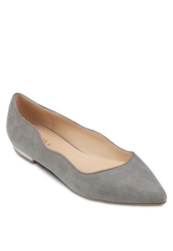 扇貝鞋口娃娃鞋、 女鞋、 鞋ZALORA扇貝鞋口娃娃鞋最新折價