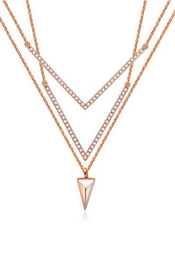Vivere Rosse Prism Luck layered Necklace VI014AC83BGMMY_1