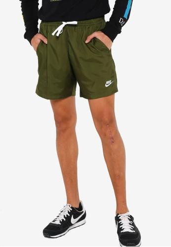 Nike green Sportswear Men's Woven Shorts 98E7AAAE6A82F2GS_1