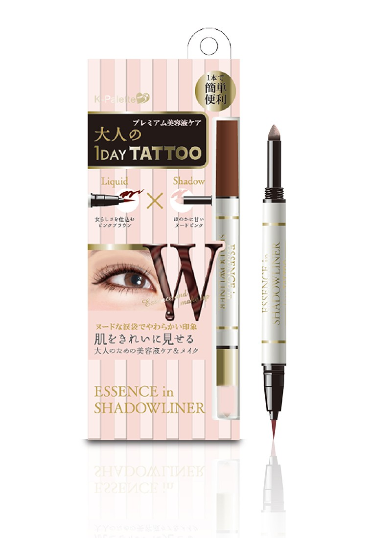1Day Tattoo Essence in Shadowliner Pink Brown x Nude Pink 04