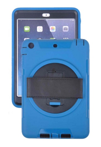 Nadjames blue Shockproof Armor Case Silicone 360 Rotating Stand with Leather Belt for Apple iPad Air 2 NA782AC28YBRPH_1