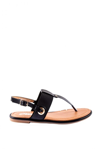 Otto black T-bar Sandals CDED8SH962BF5EGS_1