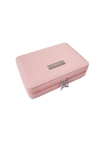 Vayne pink Personalised Jewelry Box Case - Light Pink CD8D9AC8EB73CCGS_1
