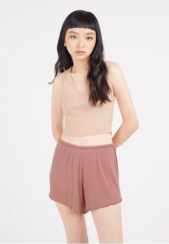 Gen Woo pink Lounge Shorts by Gen Woo 17656AAB9FBA09GS_1
