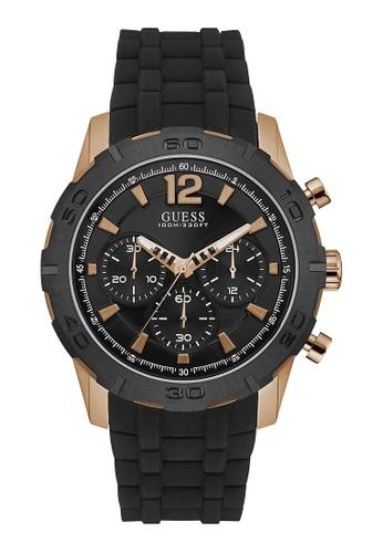 faad3f0dc Buy Guess Watch Mens Rose Gold/ Black- W0864G2 | ZALORA HK