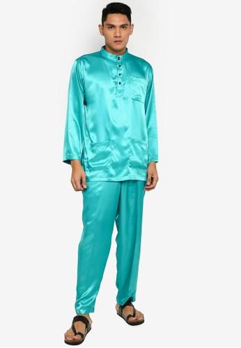 Gene Martino green Tradisional Baju Melayu FB138AA8958690GS_1