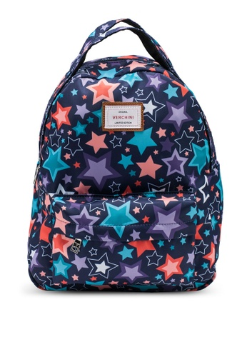 Verchini navy Printed Backpack FDE89ACBA37DC4GS_1