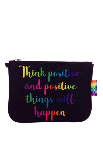 Shop Roy Biv Rainbow Pouch Think Positive And Positive Things