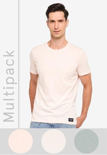 Abercrombie & Fitch multi Multipack Crew Neck T-Shirt 7C2D0AA81F7C7BGS_1