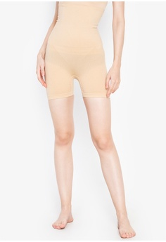 e18aeb967fc7 Golden Ticket Super Savers beige Slimming High Waisted Shorts and  Bodyshaper 5571EUS0CEB422GS_1