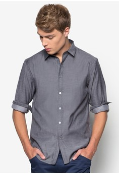 Shirt with Contrast Stitch Detail