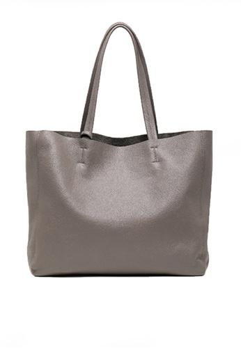 Twenty Eight Shoes grey VANSA Top Layer Cowhide Tote Bag VBW-Tb1313 810CFAC4656262GS_1