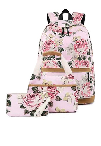 Twenty Eight Shoes pink VANSA Floral Printed Canvas Backpacks VBW-Bp10031 DEB11ACA7055FCGS_1