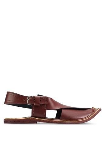 Pride red Men Shoes-Leather Peshawri Chappal PR075SH32YADMY_1