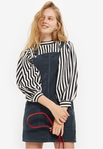 TOPSHOP navy Petite Corduroy Pocket Pinafore Dress TO099AA0K7YXPH_1