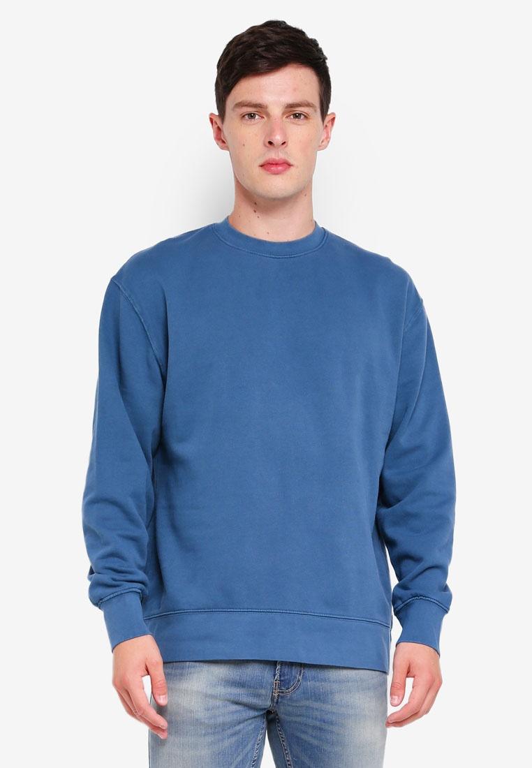 Blue Classic Sweatshirt Topman Classic Topman Blue Blue Sweatshirt Blue TAqFXT