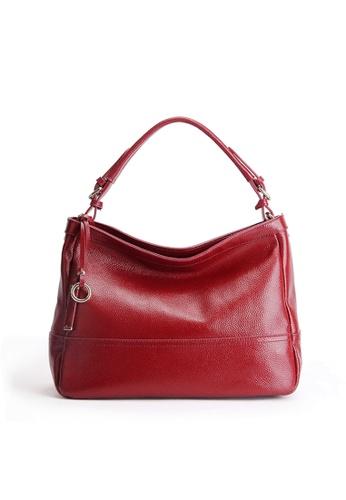 Twenty Eight Shoes red VANSA Pebbled Top Layer Cowhide Tote Bag VBW-HB6024 D58DFAC0CA7EA7GS_1