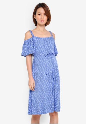 JoJo Maman Bébé blue Maternity Batik Sundress CDDCBAA4B50383GS_1
