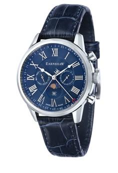 Thomas Earnshaw Men's Genuine Leather Strap Watch - ES-0017-04