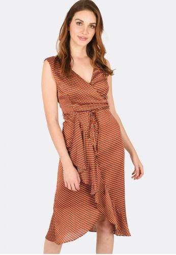 FORCAST brown Paris Crossover Dress 5F009AA3368EC2GS_1
