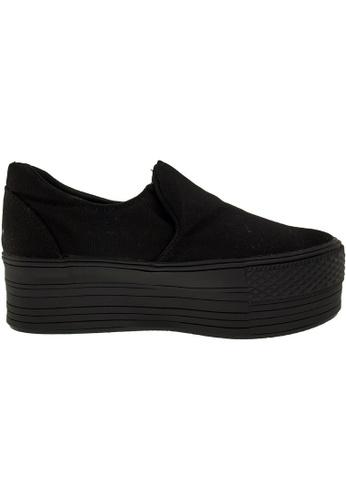 Maxstar black Maxstar Women's C50 Platform Canvas Skate Slip On Shoes US Women Size MA164SH00FLZSG_1