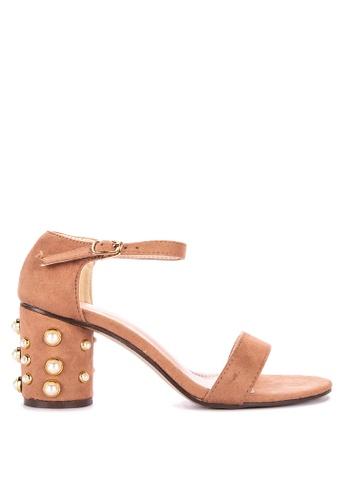 96c36d27a Shop Rock Rose Geometric Block Heel Sandals Online on ZALORA Philippines