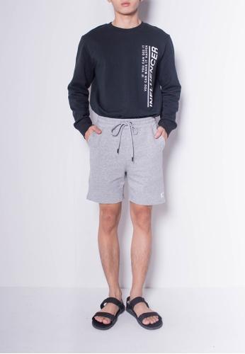 SUB grey Men Knit Short Jogger 1EDF4AA9ED4942GS_1