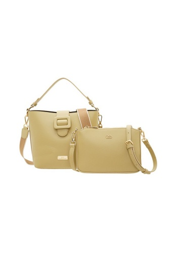 Valentino Creations yellow Valentino Creations Genny Bucket Bag, Sling Bag Set 6826CACC9AE852GS_1