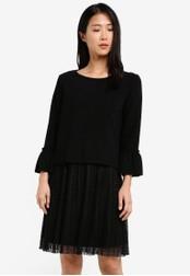 Esprit black Knitted Mini Dress ES374AA0SAY9MY_1