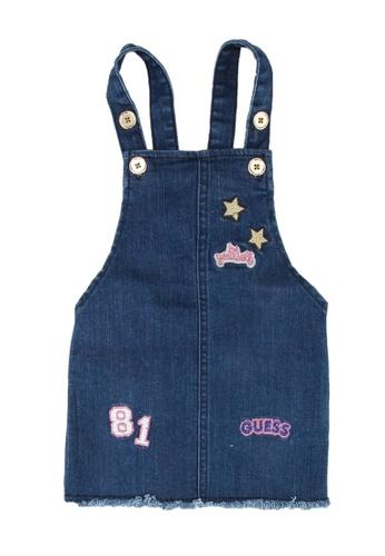 Guess blue Denim Overall Dress BD8D0KABEF9956GS_1