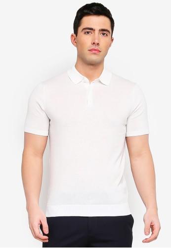 MANGO Man white Knit Cotton Polo Shirt 0B0A7AA4EB23F6GS_1