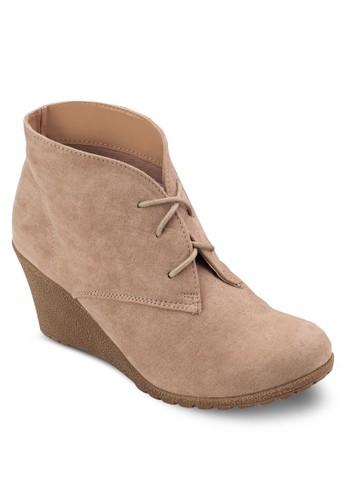繫帶楔型跟踝靴, 女鞋, 靴esprit台灣門市子