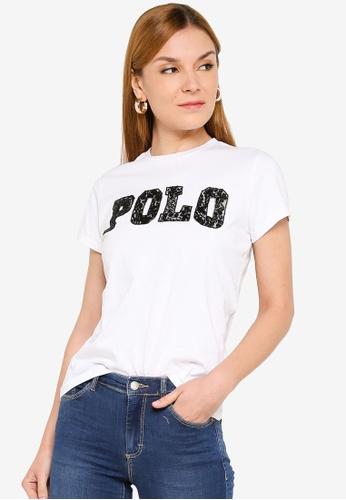Polo Ralph Lauren white Beaded Logo T-Shirt 04273AA4301A0AGS_1