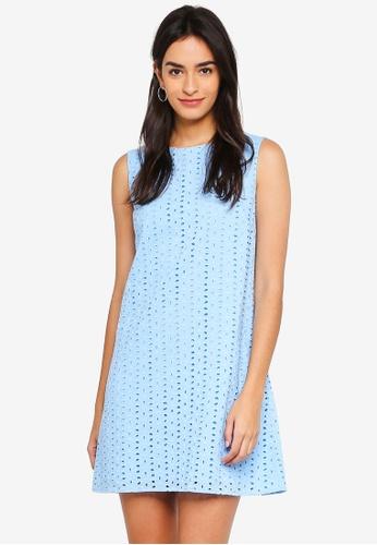 ZALORA blue Sleeveless A-Line Dress 37881AA8446587GS_1