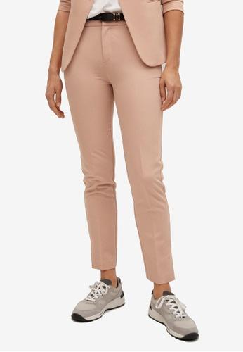 Mango orange Belt Suit Trousers 04056AAD130722GS_1