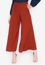 Chase Fashion brown Plain High Rise Wide Leg Long Culottes FADABAA4236B35GS_1