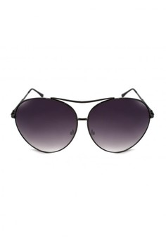 Allison Oversized Aviator Textured Arm Design Sunglasses A17-Y