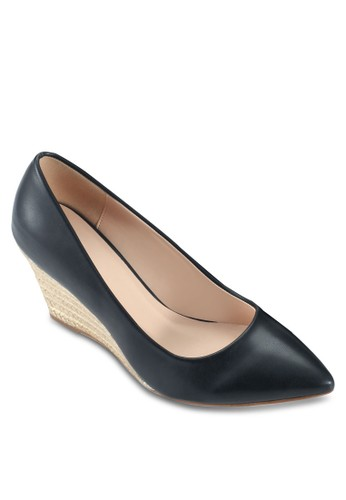 基esprit tw本款麻編楔形鞋, 女鞋, 厚底楔形鞋