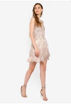 ced0f177 6% OFF INDIKAH Asymmetrical Hem Ruffle Glitter Mini Dress S$ 97.00 NOW S$  90.90 Sizes 6 8 10 12