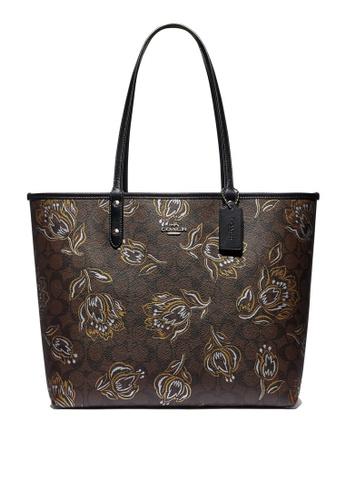 Coach black Reversible City Tote Bag (cv) A4B8DAC2A9E175GS_1