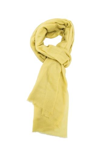 SHOKAY gold Lumi Classic Shawl (Mustard) SH407AC69AGGHK_1