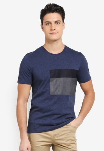 G2000 navy Colour Block Tee AF7EAAA0EFE597GS_1