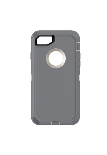 MobileHub grey iPhone 7 Extreme Hybrid Shockproof Case FREE Belt Clip Holster 8FB81AC7720B75GS_1
