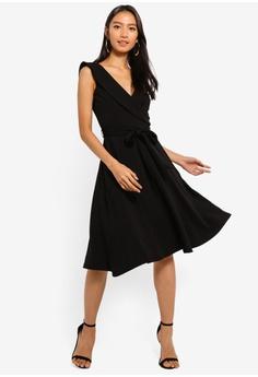 c2e7b830fdb2 65% OFF Goddiva Cross Over Midi Dress S$ 90.90 NOW S$ 31.90 Sizes 8 10 12  14 16