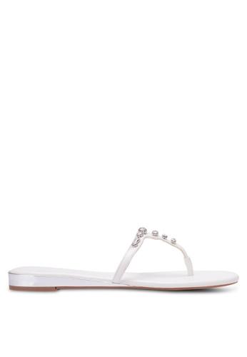 Nose white Diamond Stone Sandals NO327SH0RVLQMY_1